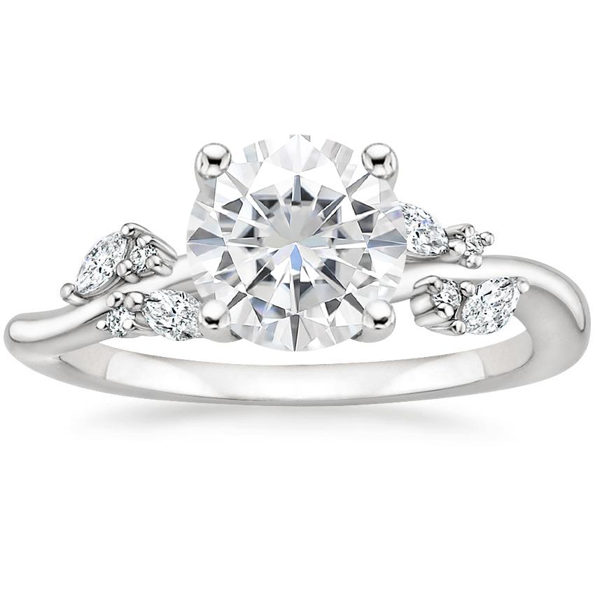 Moissanite Arden Diamond Ring in 18K White Gold