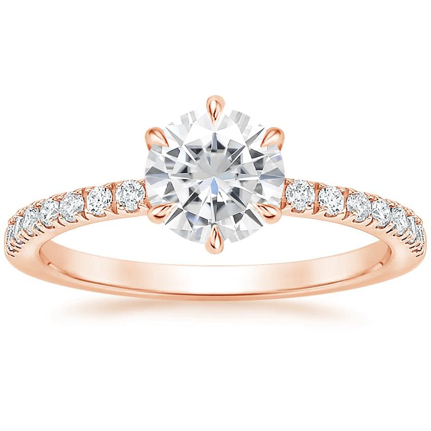 Rose Gold Moissanite Poppy Diamond Ring