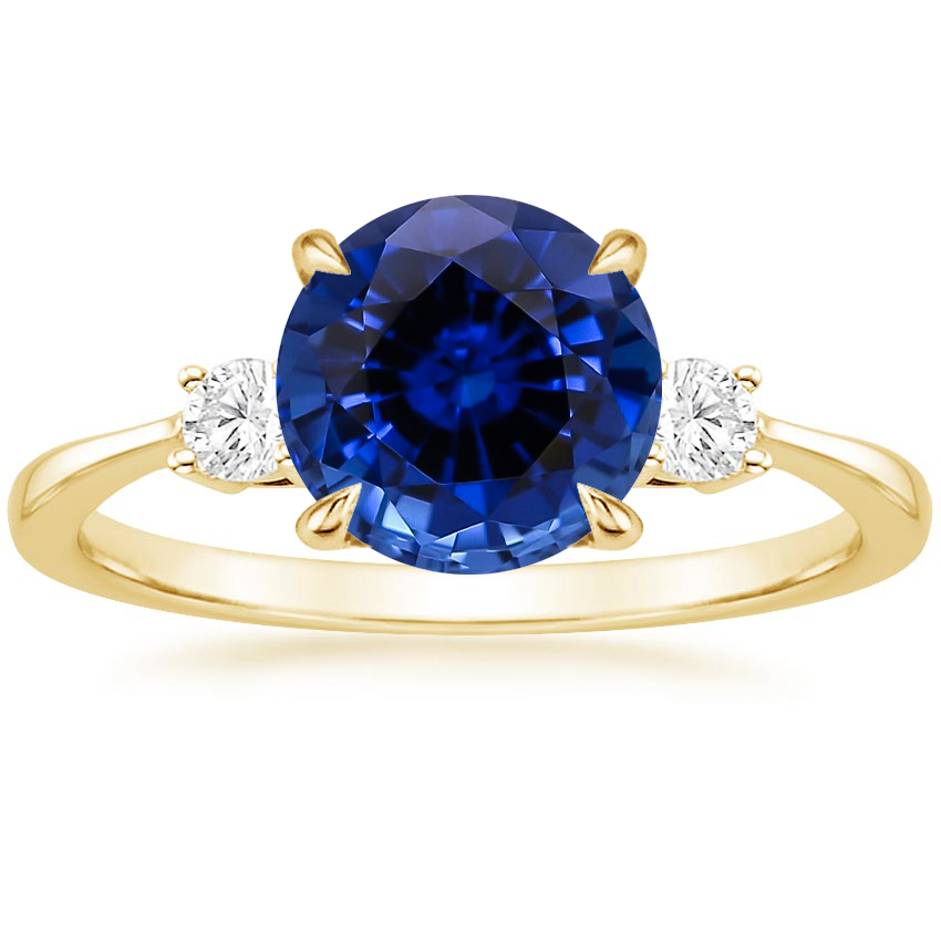 Lab Created Sapphire Engagement Rings Brilliant Earth