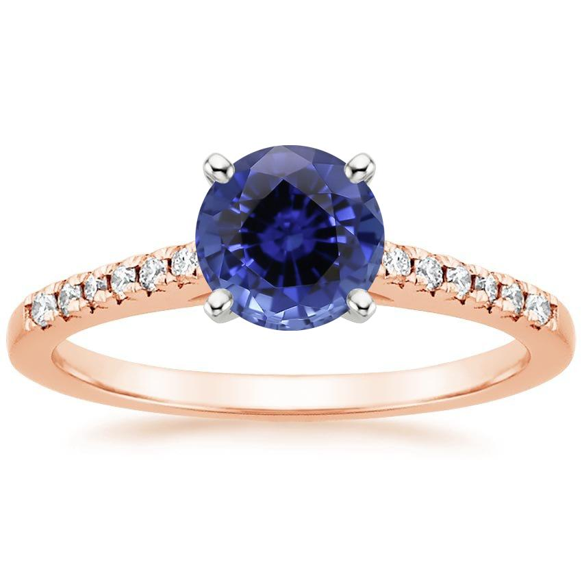 Rose Gold Sapphire Sonora Diamond Ring