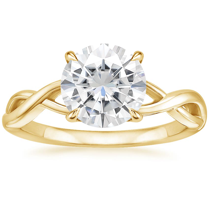 Yellow Gold Moissanite Eden Diamond Ring