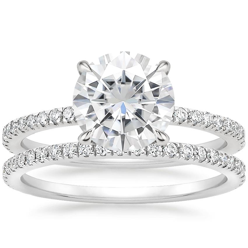 18KW Moissanite Viviana Diamond Bridal Set (1/2 ct. tw.), top view