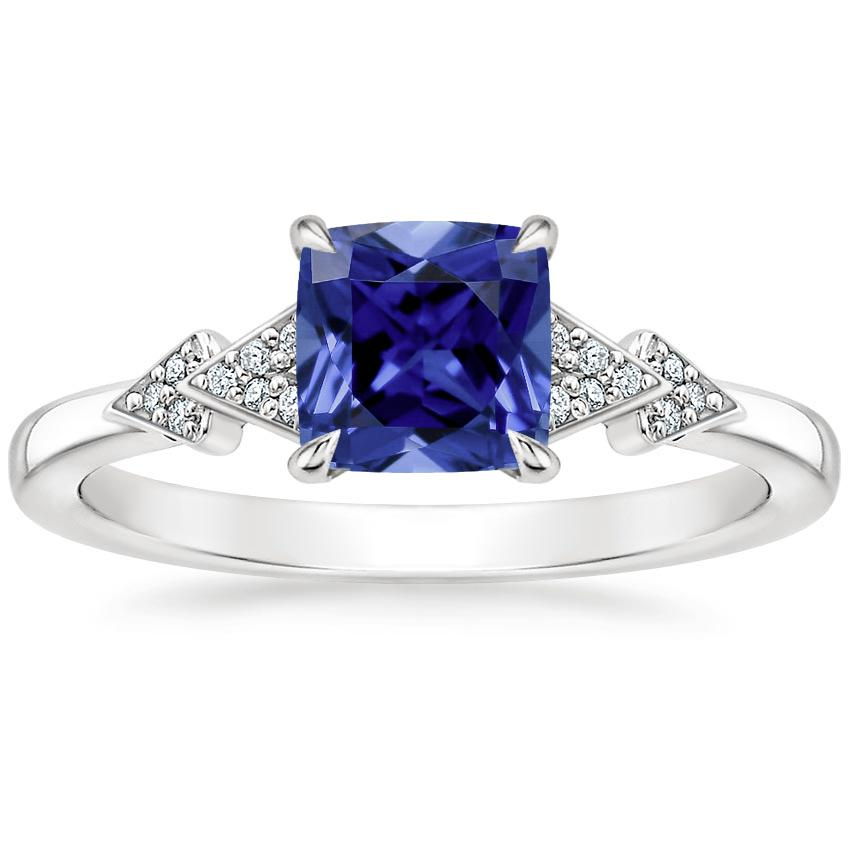 Sapphire Alta Diamond Ring in Platinum