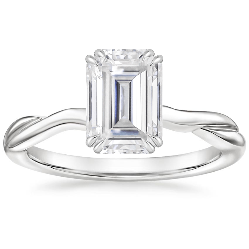 Moissanite Alouette Ring in 18K White Gold