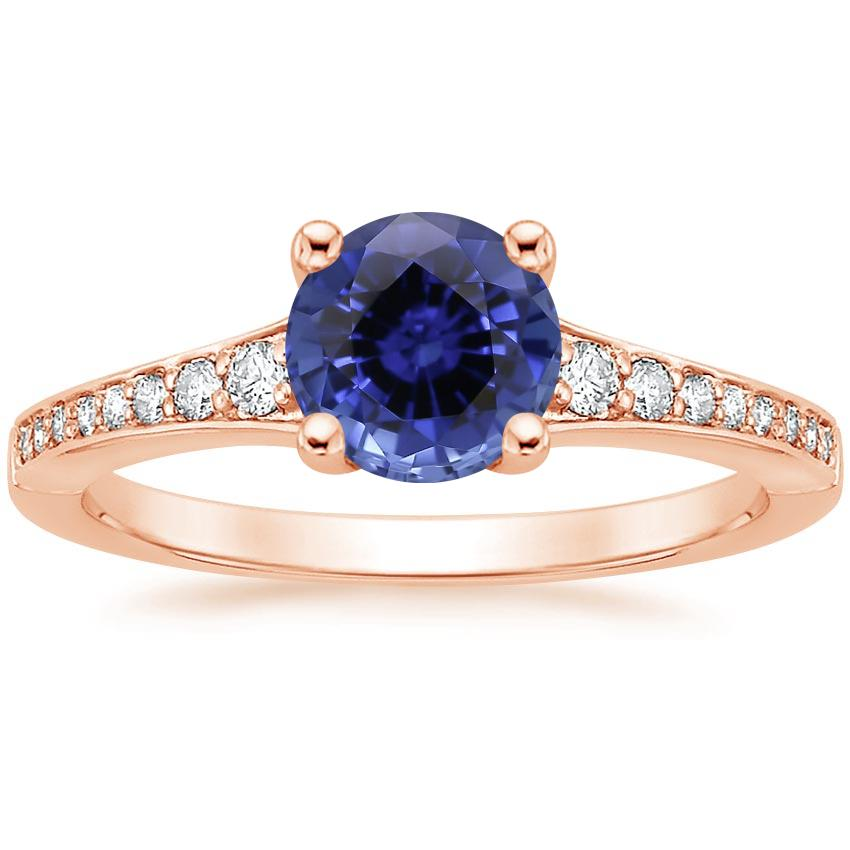 Rose Gold Sapphire Poetica Diamond Ring