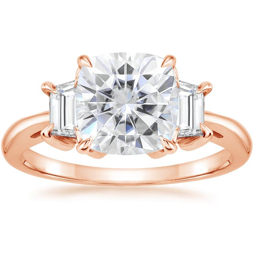 Rose Gold Moissanite Embrace Diamond Ring