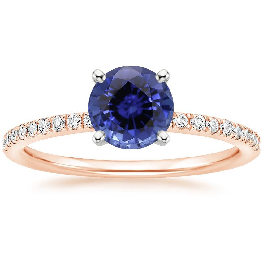 Rose Gold Sapphire Ballad Diamond Ring (1/8 ct. tw.)