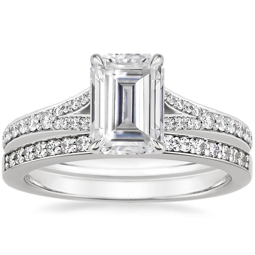 18KW Moissanite Duet Diamond Bridal Set (1/3 ct. tw.), top view