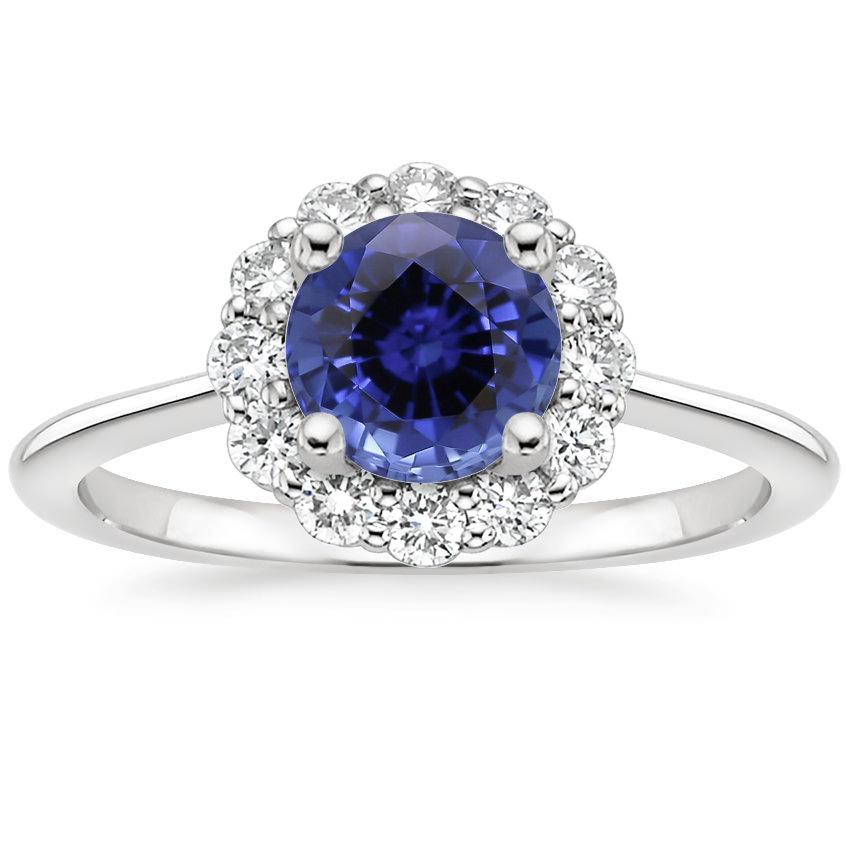 Sapphire Calla Diamond Ring (1/3 ct. tw.) in 18K White Gold