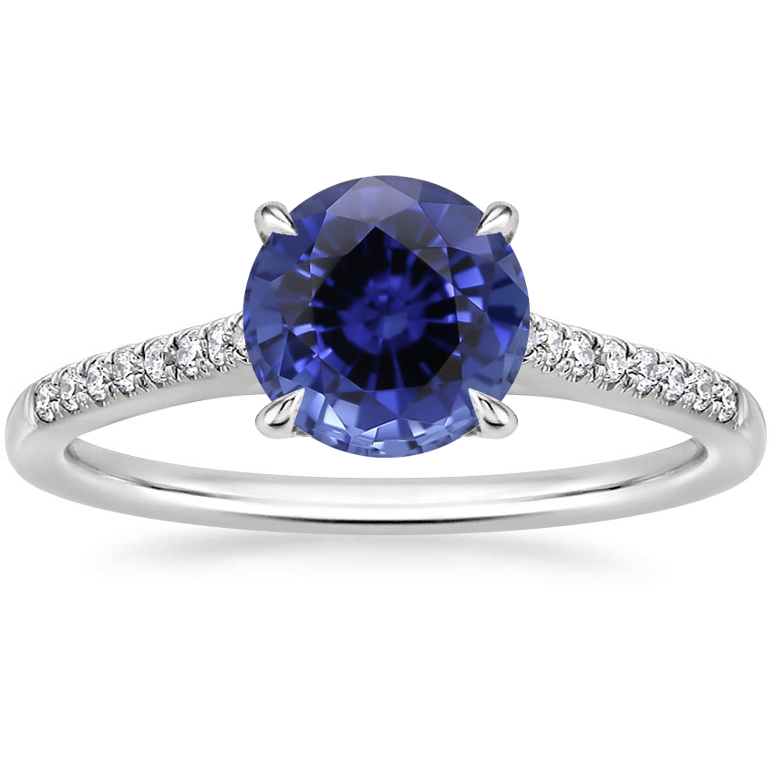 Sapphire Lissome Diamond Ring (1/10 ct. tw.) in Platinum