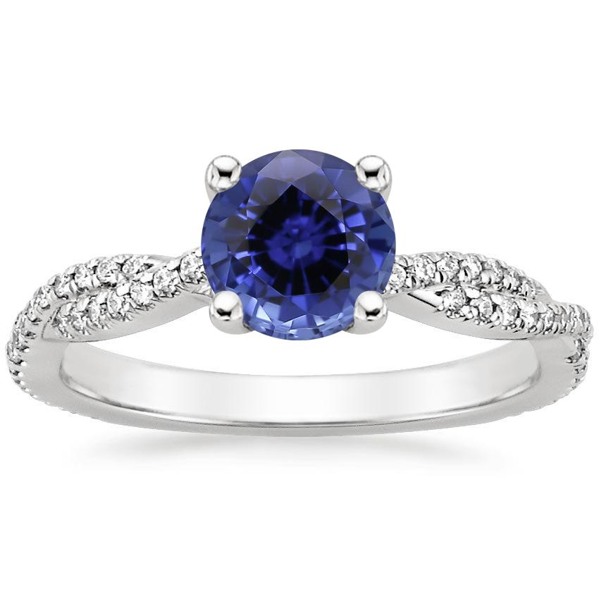 Sapphire Petite Luxe Twisted Vine Diamond Ring (1/4 ct. tw.) in Platinum