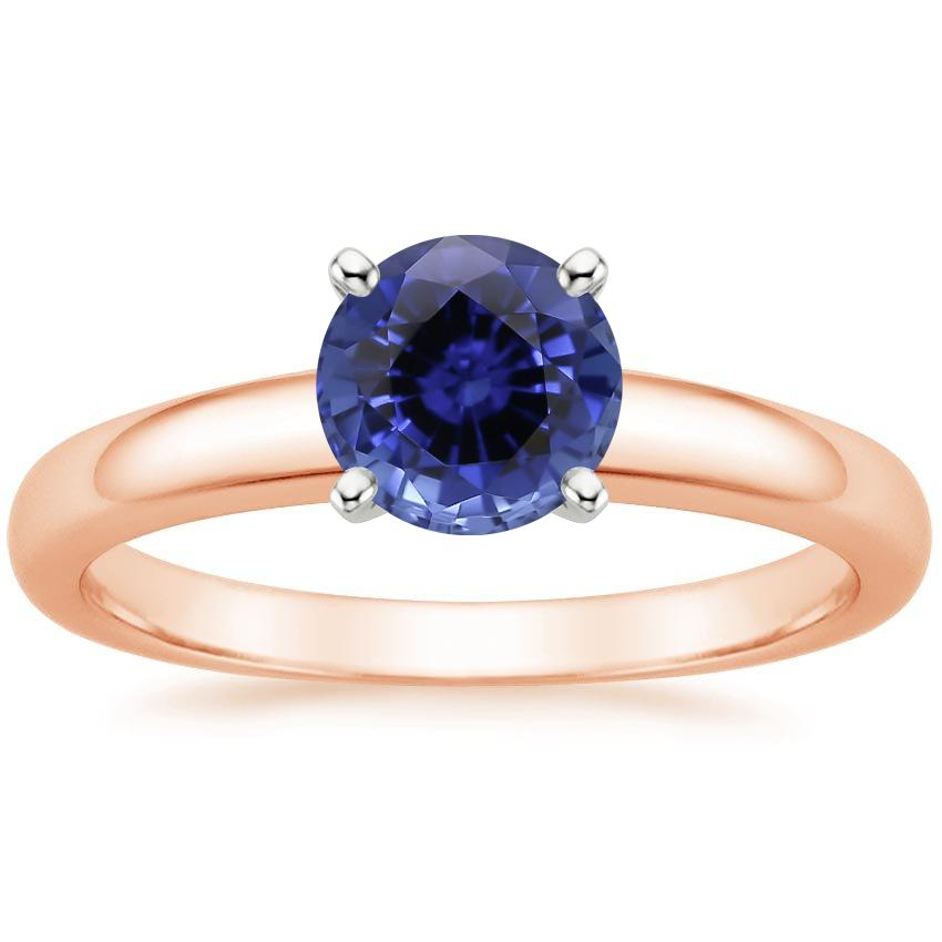 Rose Gold Sapphire 3mm Comfort Fit Ring