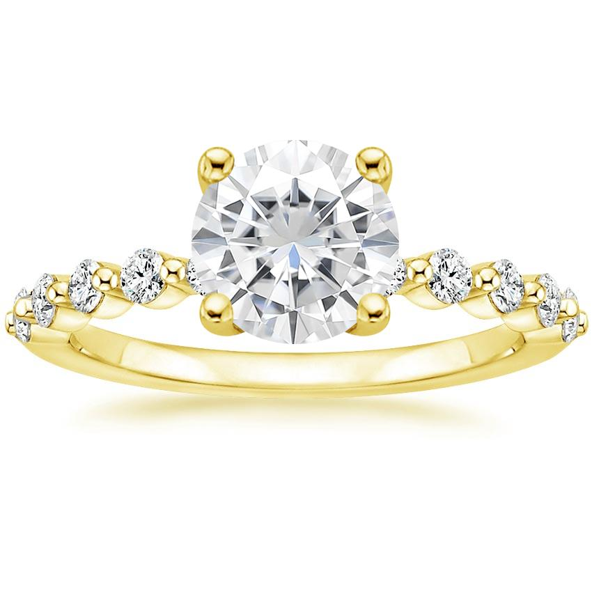 Yellow Gold Moissanite Marseille Diamond Ring (1/4 ct. tw.)