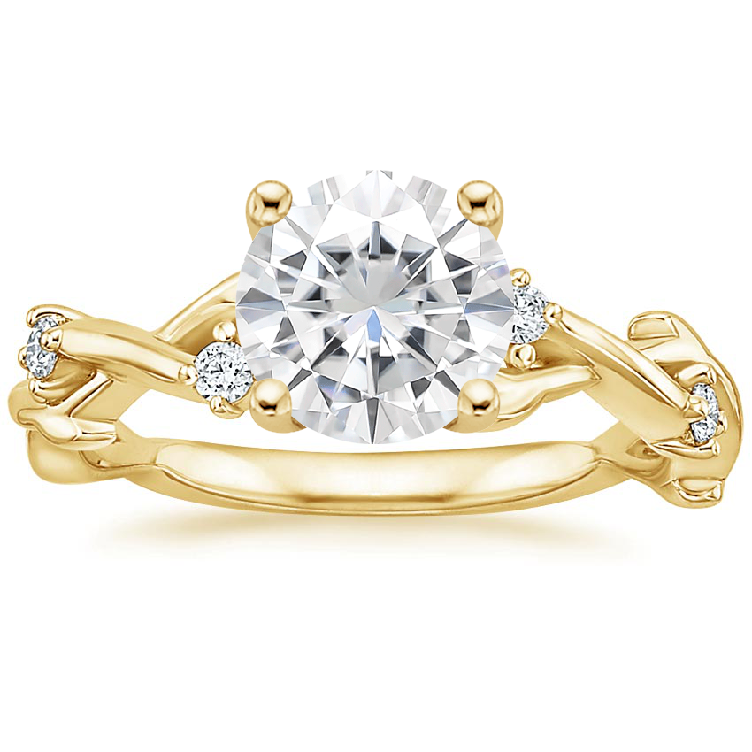 Yellow Gold Moissanite Liana Diamond Ring