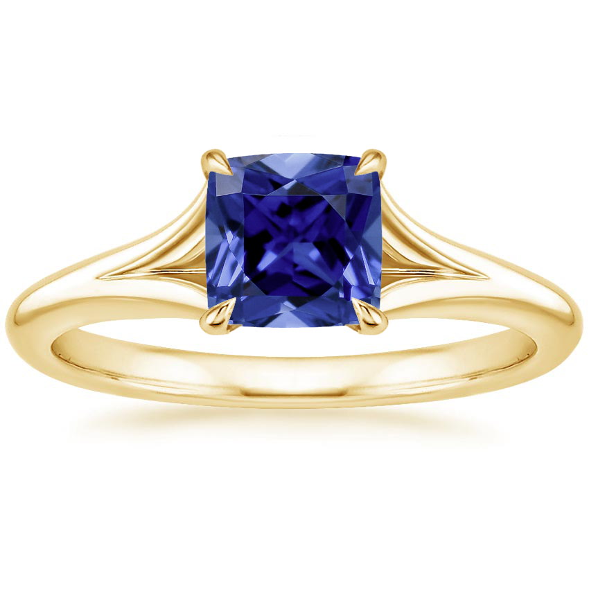 Yellow Gold Sapphire Reverie Ring with Surprise Sapphire Accents