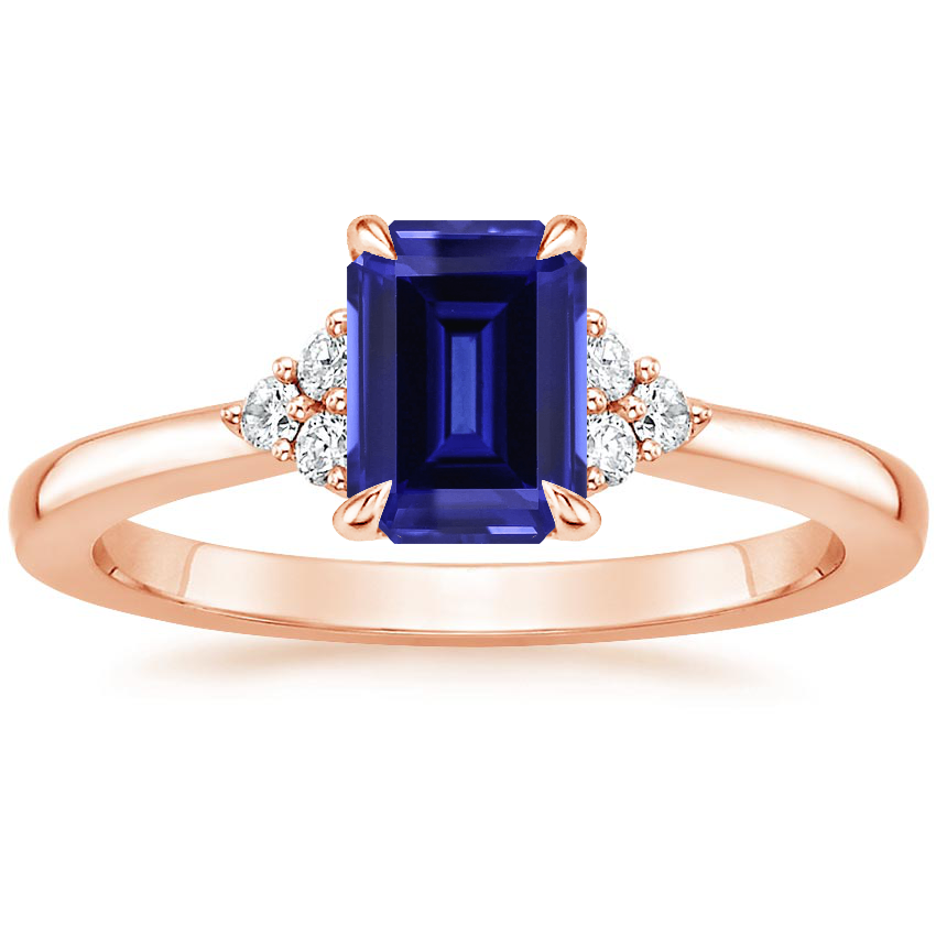 Rose Gold Sapphire Melody Diamond Ring