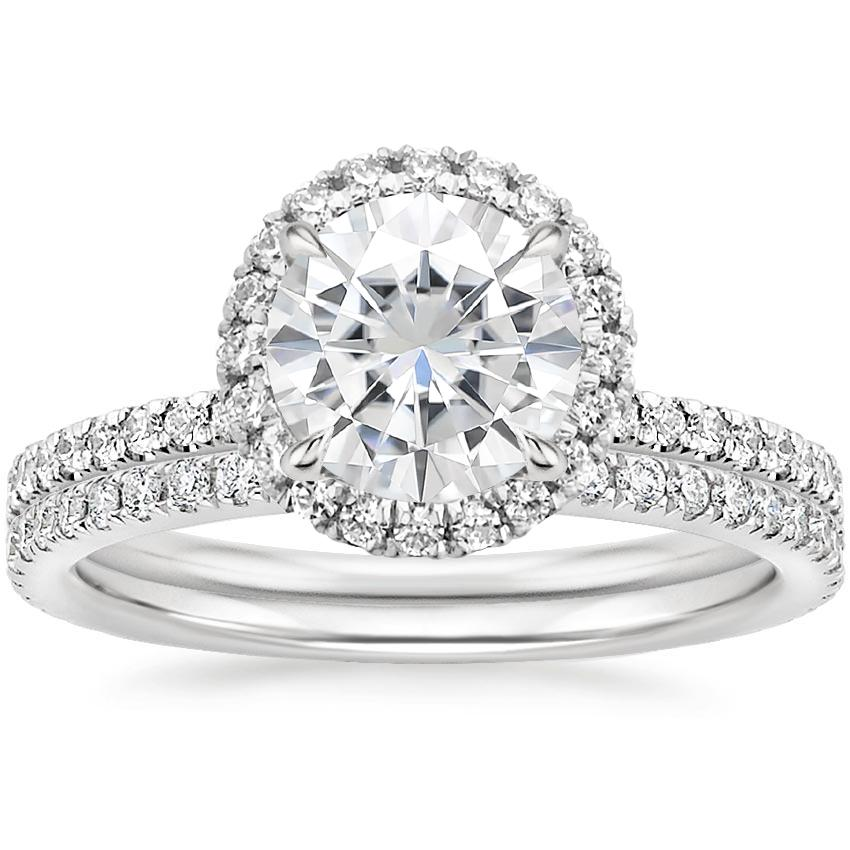 18KW Moissanite Waverly Diamond Bridal Set (2/3 ct. tw.), top view