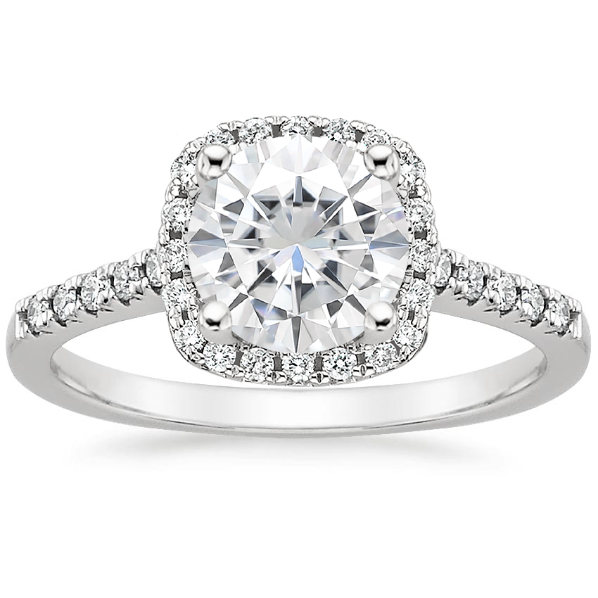 Moissanite Odessa Diamond Ring (1/5 ct. tw.) in 18K White Gold