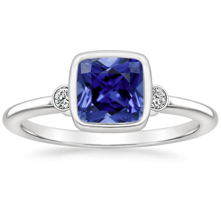 Sapphire Mila Diamond Ring in 18K White Gold