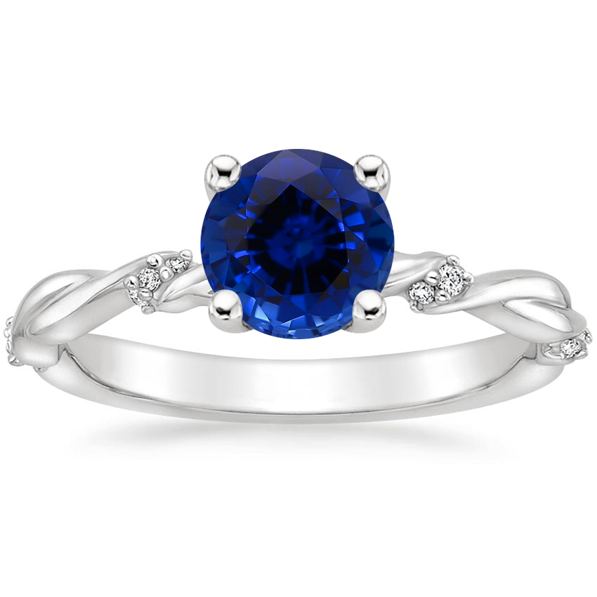 Sapphire Cleo Diamond Ring in Platinum