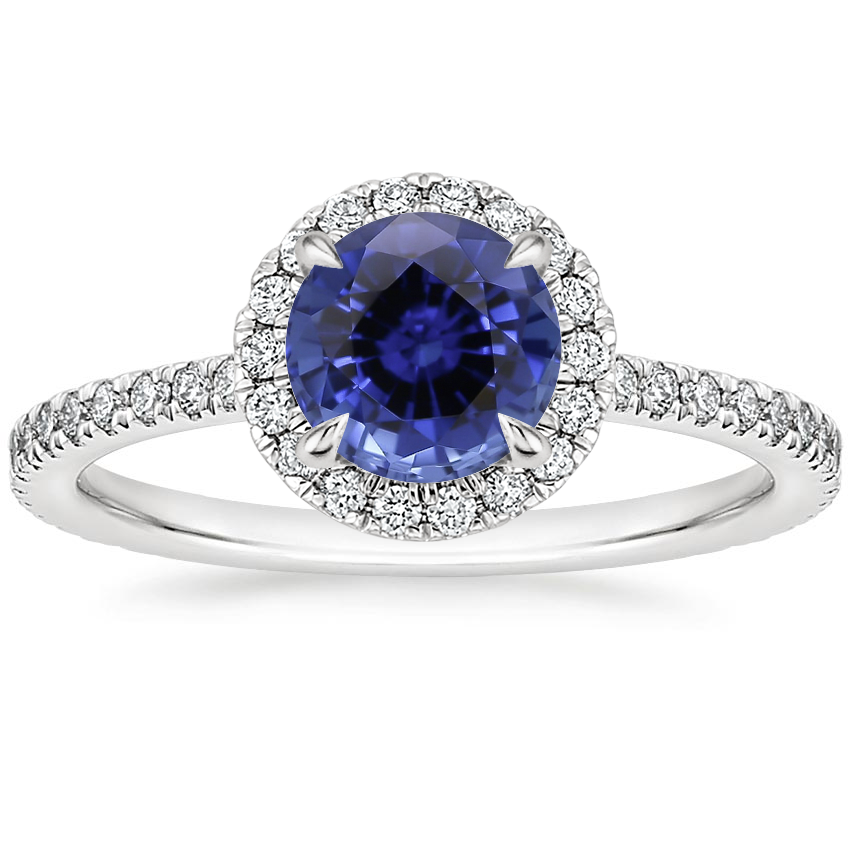 Sapphire Luxe Ballad Halo Diamond Ring (1/3 ct. tw.) in 18K White Gold