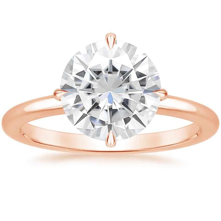 Rose Gold Moissanite North Star Ring