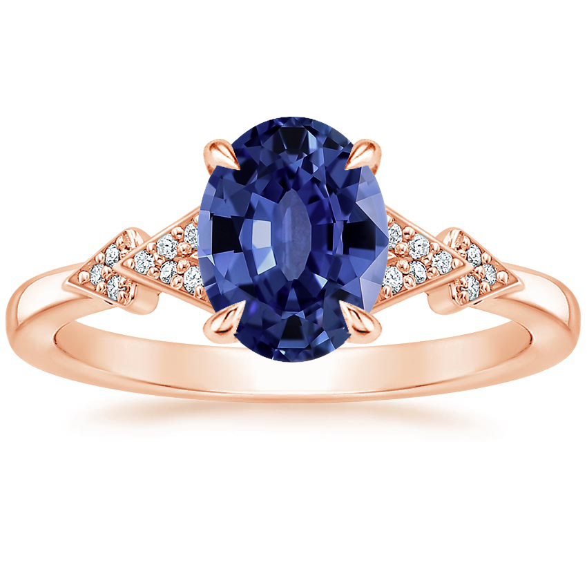 Rose Gold Sapphire Alta Diamond Ring