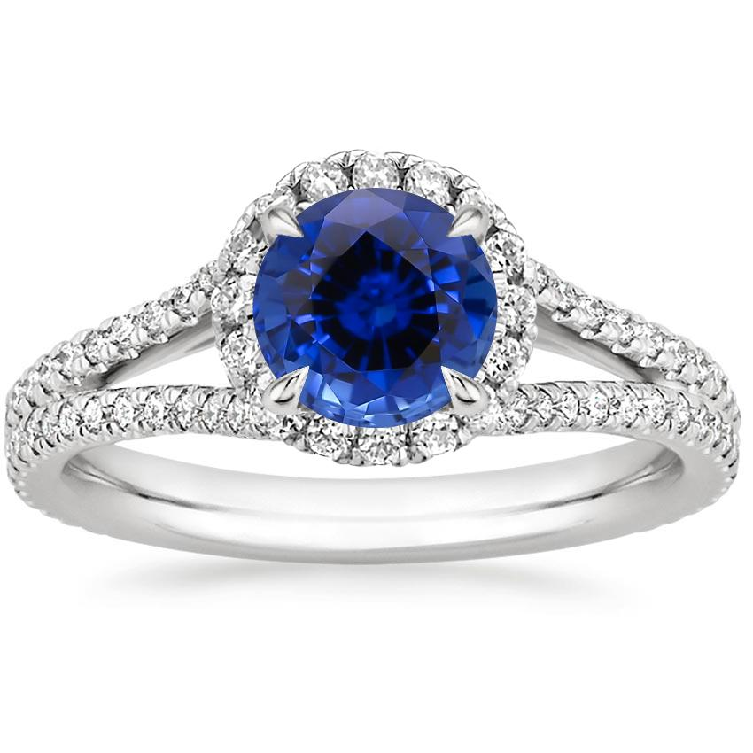 Sapphire Fortuna Diamond Ring (1/2 ct. tw.) in 18K White Gold