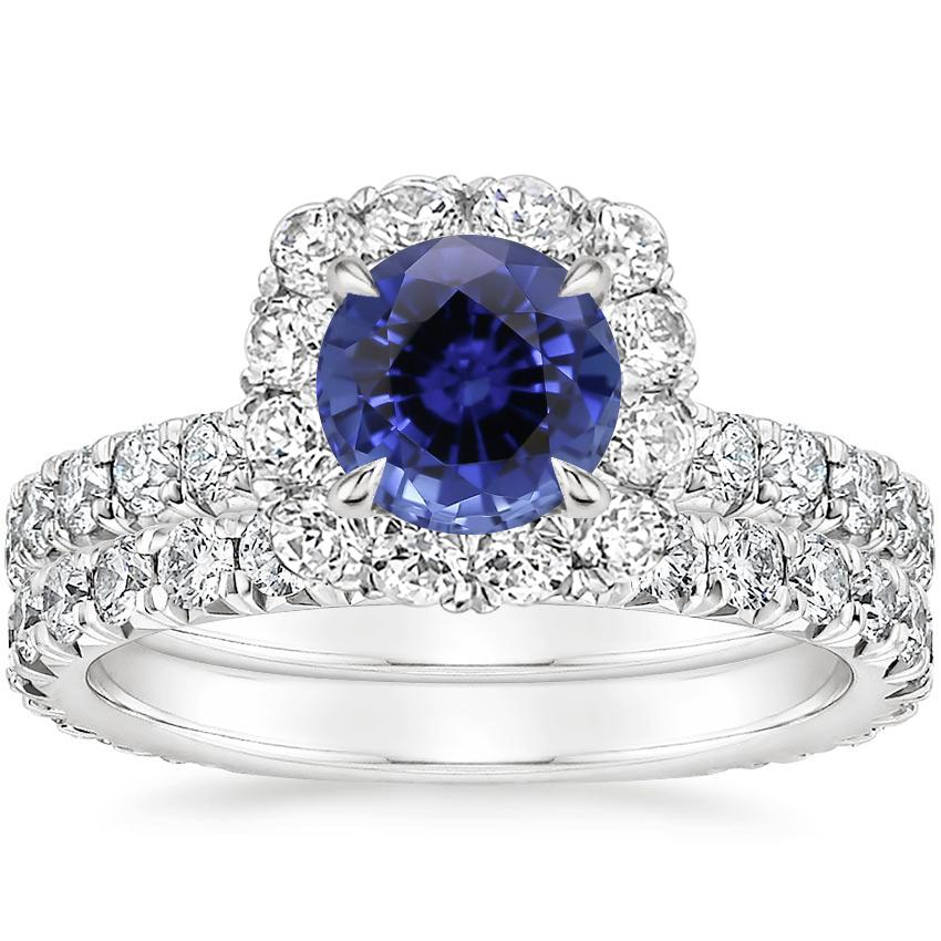PT Sapphire Estelle Diamond Bridal Set (1 1/3 ct. tw.), top view
