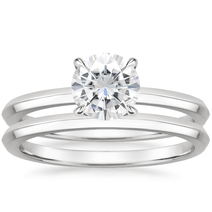 PT Moissanite Hazel Bridal Set, top view