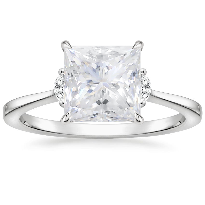 Moissanite Jolie Diamond Ring in Platinum
