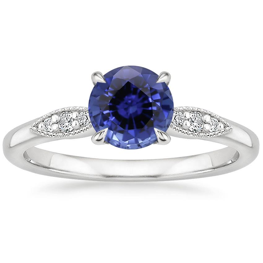 Sapphire Isadora Diamond Ring in 18K White Gold