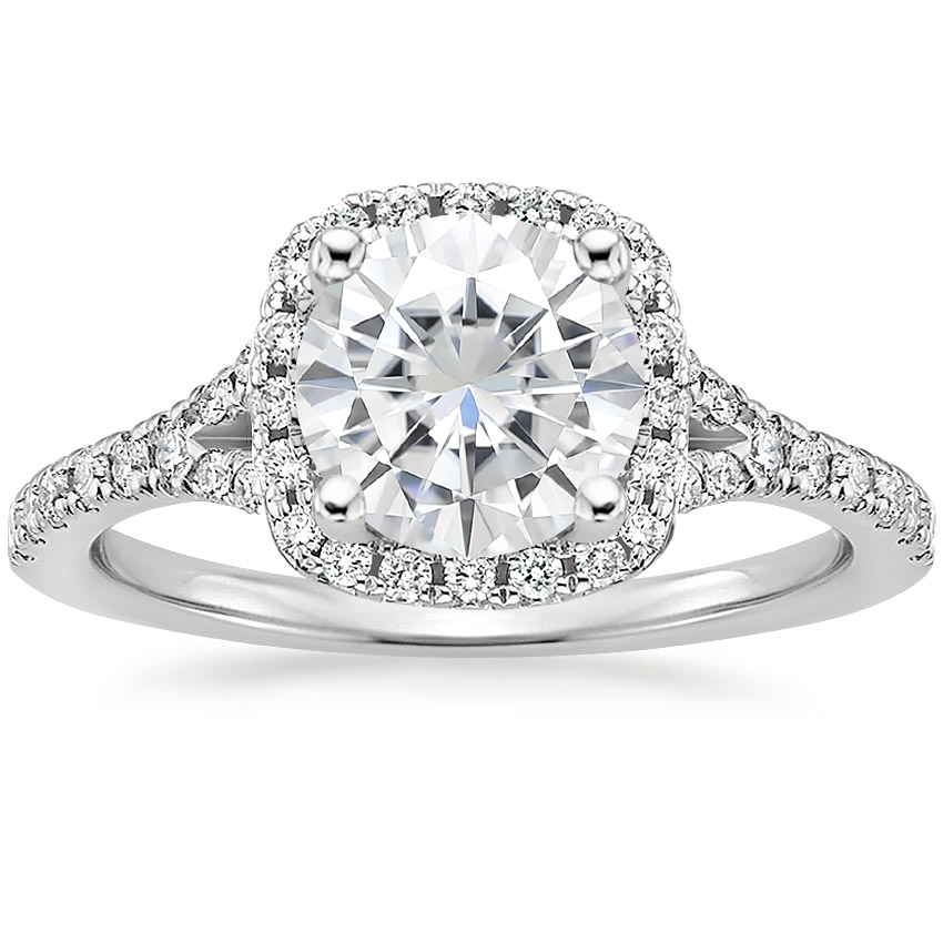 Moissanite Joy Diamond Ring (1/3 ct. tw.) in 18K White Gold