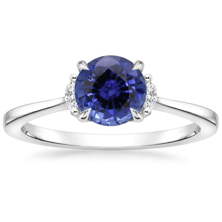 Sapphire Jolie Diamond Ring in 18K White Gold
