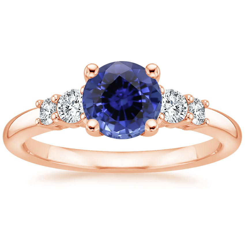 Rose Gold Sapphire Rialto Diamond Ring (1/4 ct. tw.)