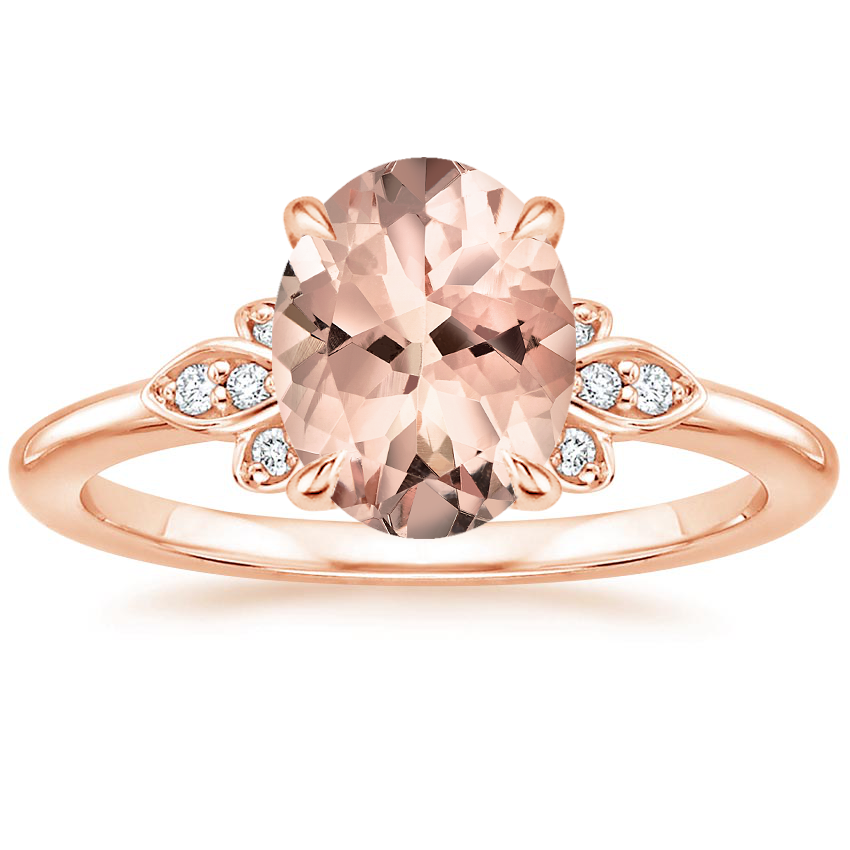 Rose Gold Morganite Fiorella Diamond Ring