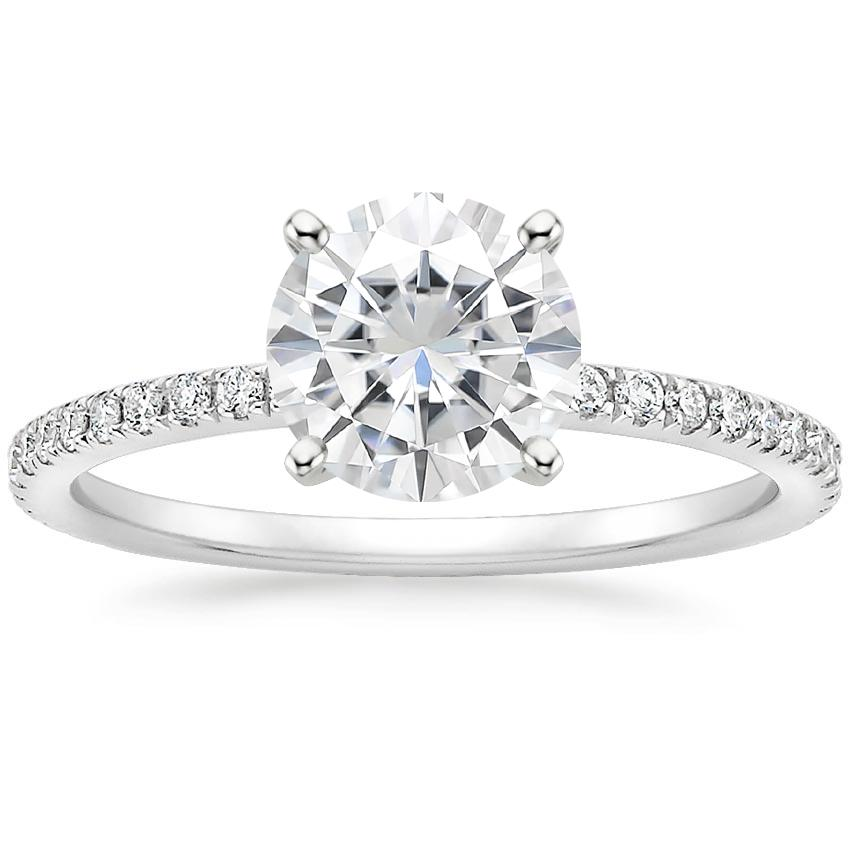 Moissanite Luxe Ballad Diamond Ring (1/4 ct. tw.) in 18K White Gold