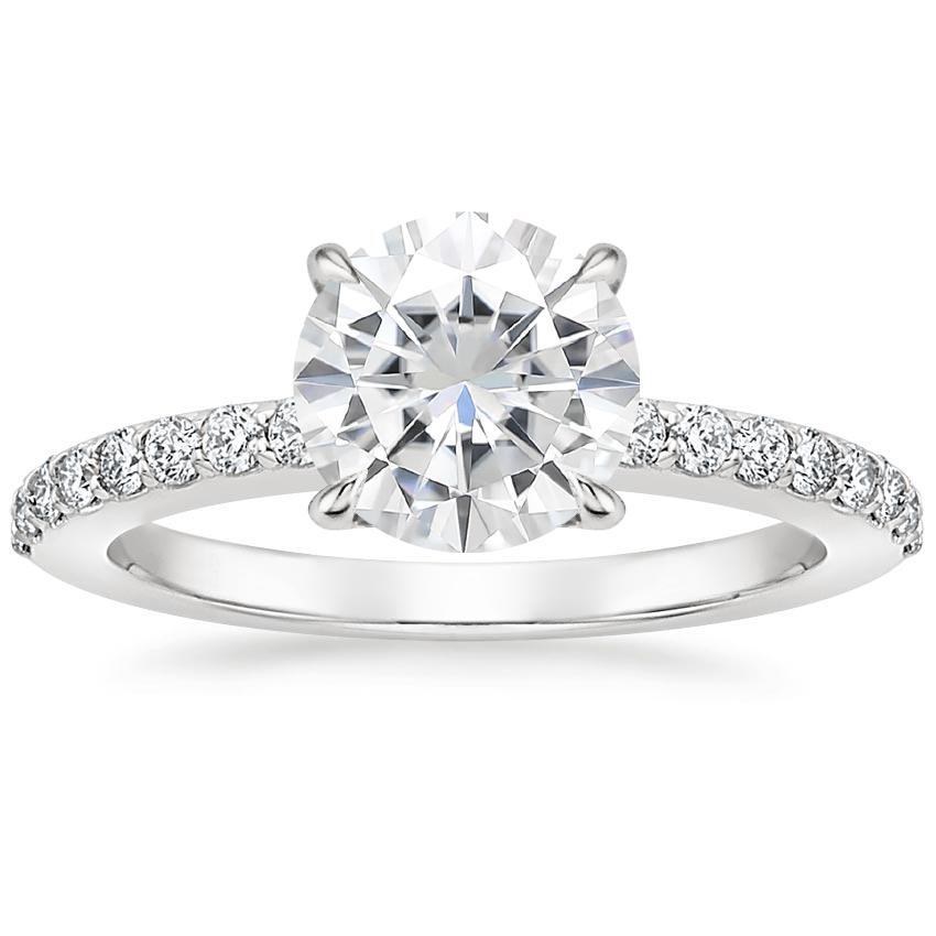 Moissanite Luxe Elodie Diamond Ring (1/4 ct. tw.) in Platinum