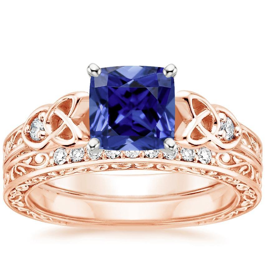 Image result for Sapphire Aberdeen Diamond Bridal Set round