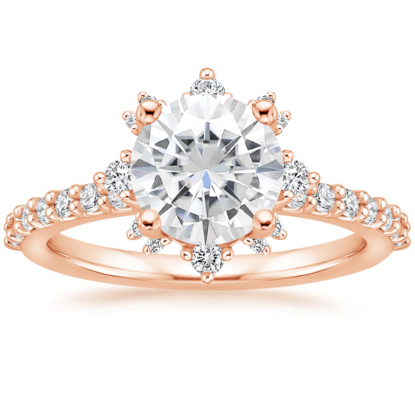 Rose Gold Moissanite Arabella Diamond Ring (1/3 ct. tw.)