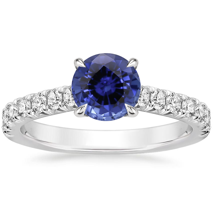 Sapphire Sienna Diamond Ring (3/8 ct. tw.) in 18K White Gold