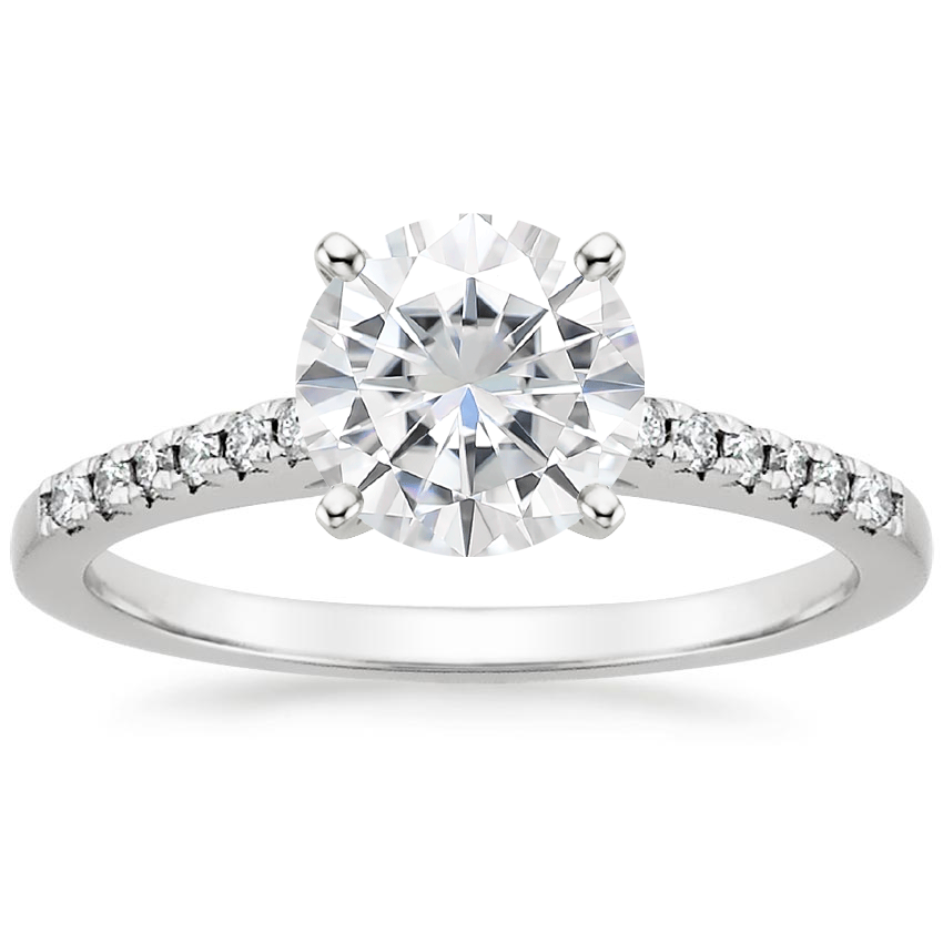 Moissanite Sonora Diamond Ring in 18K White Gold