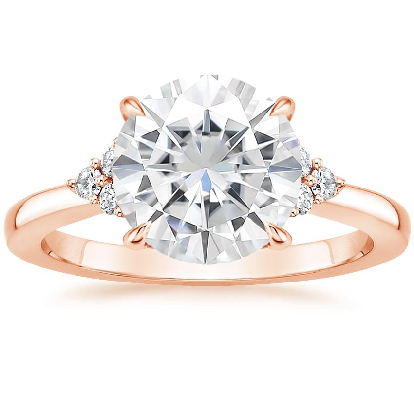 Rose Gold Moissanite Melody Diamond Ring