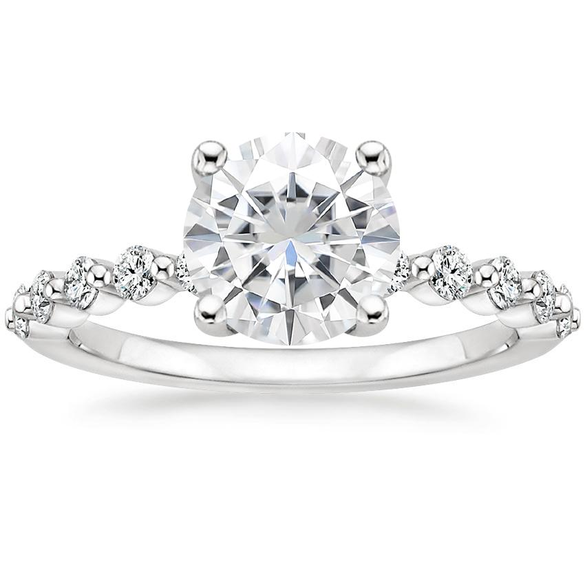 Moissanite Marseille Diamond Ring (1/4 ct. tw.) in Platinum