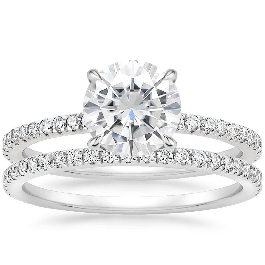 18KW Moissanite Luxe Viviana Diamond Bridal Set (1/2 ct. tw.), top view
