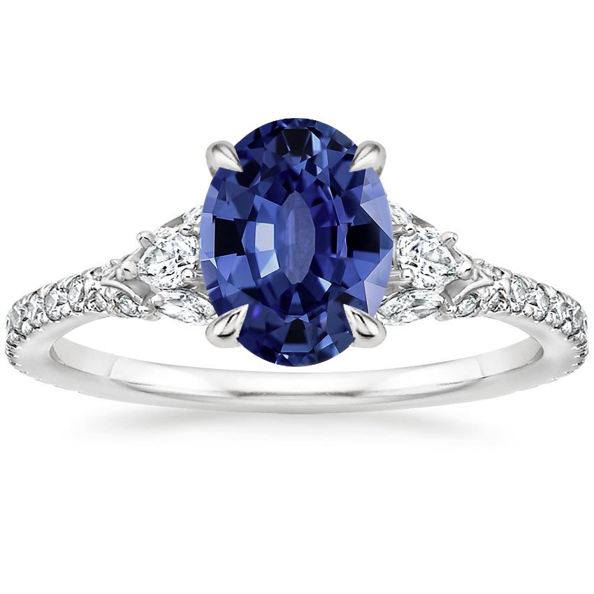 Sapphire Ava Diamond Ring (1/2 ct. tw.) in Platinum
