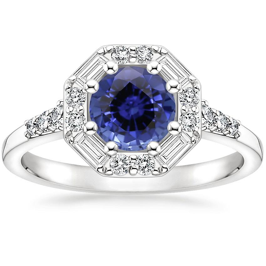 Sapphire Octavia Diamond Ring (1/3 ct. tw.) in 18K White Gold