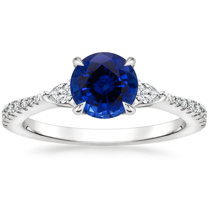 Sapphire Luxe Aria Diamond Ring (1/5 ct. tw.) in 18K White Gold