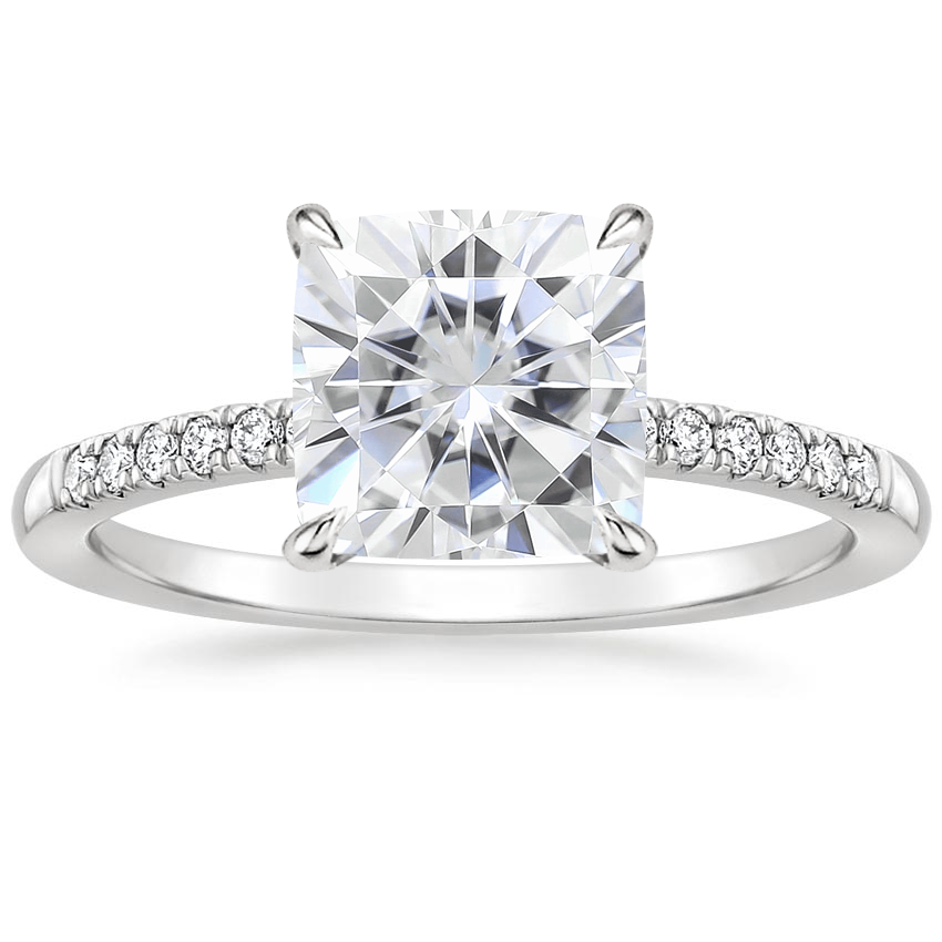 Moissanite Petite Viviana Diamond Ring (1/6 ct. tw.) in 18K White Gold