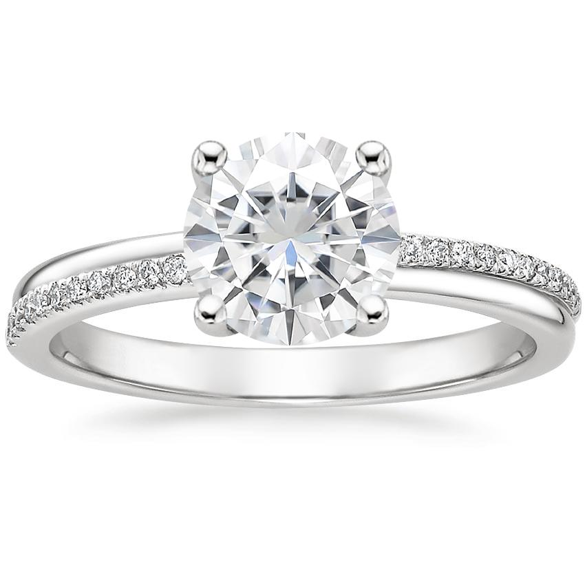 Moissanite Symphony Diamond Ring in Platinum
